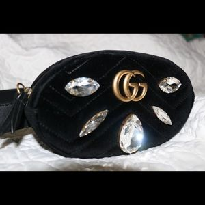 2c15f74c3e8 Gucci Bags - Gucci Marmont 2.0 Crystal and Velvet belt bag